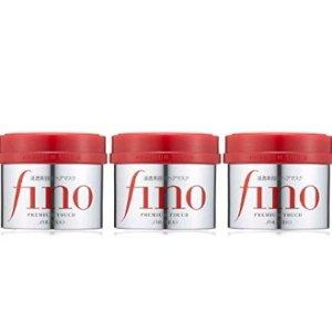 $20.4 / RMB140补货:养发护发就靠它 资生堂 Fino 滋养修护发膜 230g*3罐 特价
