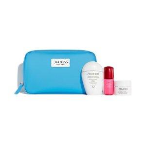 Shiseido白胖子防晒套装(价值$102)