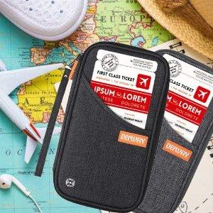 $19.99 (原价$39.99)DEFWAY 多功能护照夹/卡包