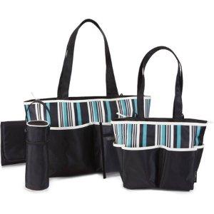 Baby Boom Tote Diaper Bag 5pc set, Striped @ Walmart