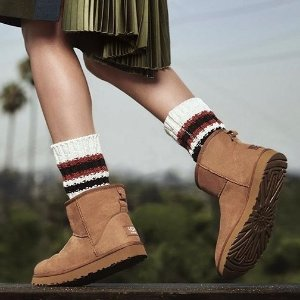 低至6折UGG 精选男鞋、女鞋及雪地靴促销 经典款也参加