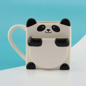 $14 Free ShippingPALADONE Panda Hug Mug with Cookie Pocket