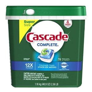 $9.7 销量冠军Cascade 清香型洗碗机用洗涤剂 78粒装