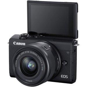 现价£419!原价£549.99佳能 EOS M200 相机Prime Day超值大促 博主Vlog、拍照神器