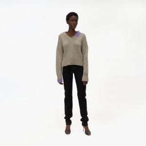 Helmut LangCamel V-Neck Sweater
