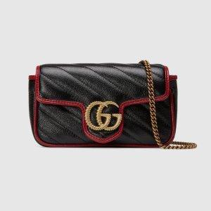 Gucci新款新配色GG Marmont super mini 斜挎包