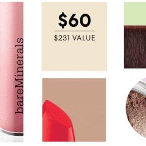$60Bare Minerals 神秘美妆10件正装礼盒 价值$231