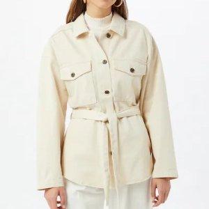 双色可选,码全Gina Tricot奶油色系带外套