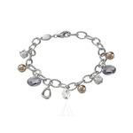 $14FOSSIL JEWELRY Sterling Silver Bracelet JF16840040