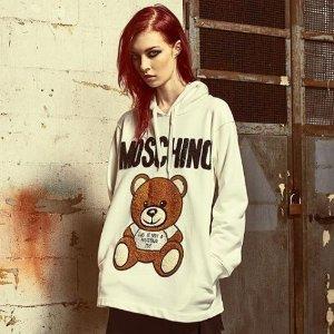 低至4折 €134收小熊T恤Moschino 软萌软萌的小熊美衣、美包热卖 减龄不二之选