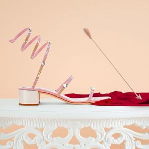 罕见8.5折 收镶钻绑带鞋、珍珠鞋近期好价:René Caovilla 仙女级别美鞋热卖