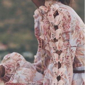低至1.5折+免邮BURRYCO 美衣专场 宫廷风印花裙$84起,蕾丝小白裙$99