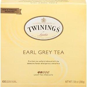 $10.36 传统英式下午茶Twinings 经典伯爵红茶 100包