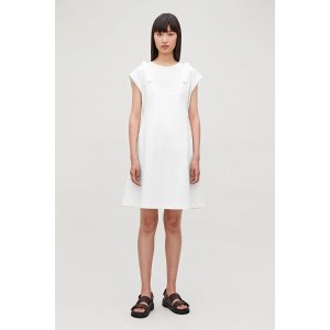 COS双层白色连衣裙