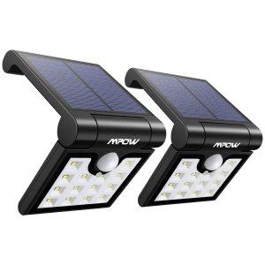 $14.44 (原价$22.99)闪购:Mpow 14 LED 太阳能防水运动感应灯2件套