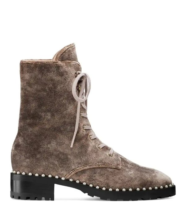 THE ALLIE 珍珠短靴