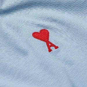 3.5折起+包退 焦糖卡包$102夏日必败:Ami Paris 春夏新色 $300收奶油蓝爱心卫衣