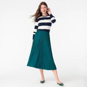 J.CrewPleated midi skirt