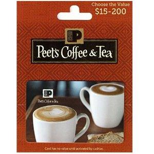 $40闪购:Peet's Coffee & Tea价值$50礼卡