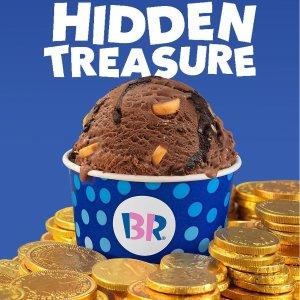 黑巧克力燕麦奶冰淇淋 $3.5Baskin Robbins 8月限定 Hidden Treasure巧克力焦糖口味