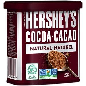 仅$4.47收226gHERSHEY'S 好时 烘焙巧克力粉 无糖可可 好吃不怕胖