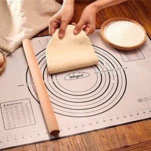 折后仅€5.97 送面团刮板Nifogo 烘焙硅胶垫热促 不粘防滑 可直接进烤箱