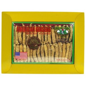 Half Short American Ginseng Small #1 4oz Box