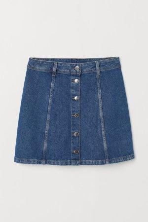 A-line Skirt - Denim blue -  | H&M US