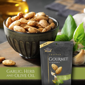 $2.48 + Free ShippingBlue Diamond Gourmet Almonds, Garlic, Herb and Olive Oil