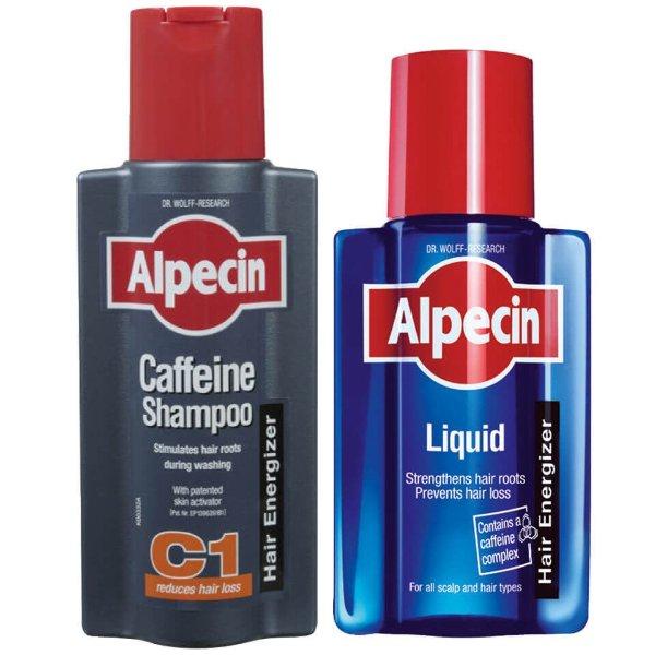 C1咖啡因生发洗发水+生发精华套装