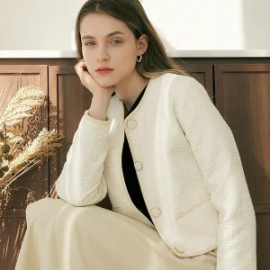 2折起 €130收封面同款WConcept 春季小外套大促 珍珠蕾丝元素满满 小香风女孩必备