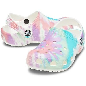 Crocs童鞋 Classic 扎染洞洞鞋