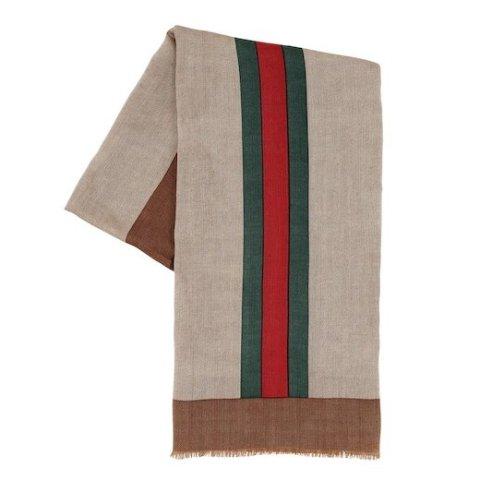 £125收古驰100%全羊毛围巾