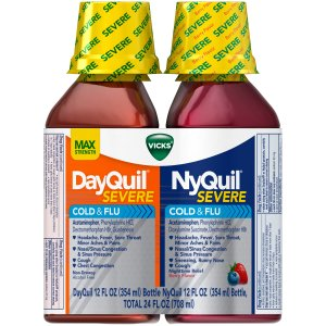 Vicks® DayQuil® & NyQuil® Severe Cold & Flu Liquid 2-12 fl. oz.