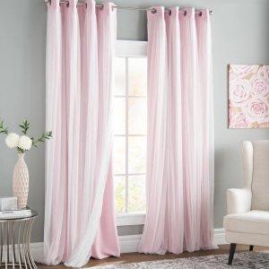 Brockham Solid Blackout Grommet Curtain Panels (Set of 2)