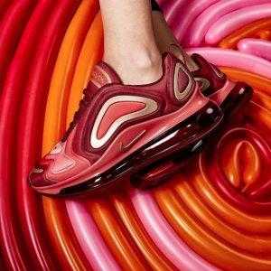 $160起 无门槛包邮Nike Air Max 720 彩色大底运动鞋一次收齐 妹子入大童款