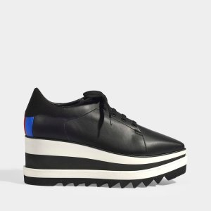 Stella McCartneySneakelyse Classic Platform Sneakers in Black Synthetic Fabric
