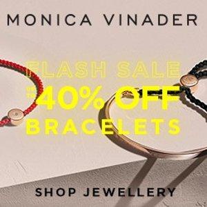 低至5折 $90收友谊手绳黑五开抢:Monica Vinader 每日闪购 精选手链热卖