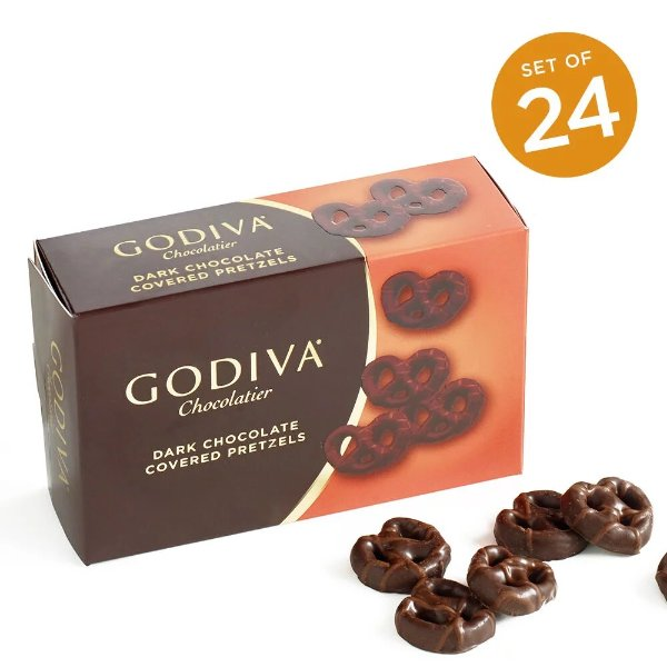 黑巧克力迷你Pretzels 24盒装
