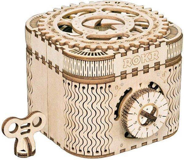 3D 木质拼搭玩具宝盒,脑筋急转弯玩具