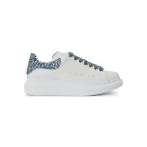 Alexander McQueen蓝色亮尾小白鞋