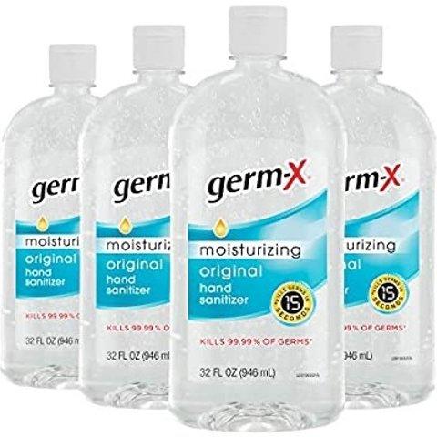 $25.11Germ-X Hand Sanitizer, Original, 32 Fl Oz (Pack of 4)