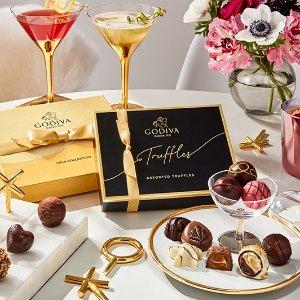 低至4.3折+免邮甜蜜520:Godiva 收坚果松露巧克力球 红色缎带礼盒8颗装$8