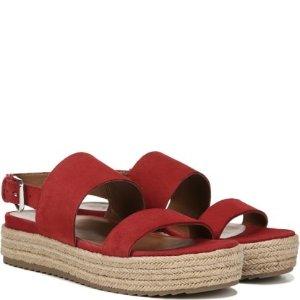 Naturalizer9-10码  夏季穿酒红 气质显脚白哟~红色厚底凉鞋