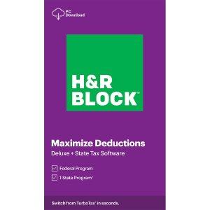 H&R Block Deluxe + State 2020 专业报税软件 Win / Mac 下载版