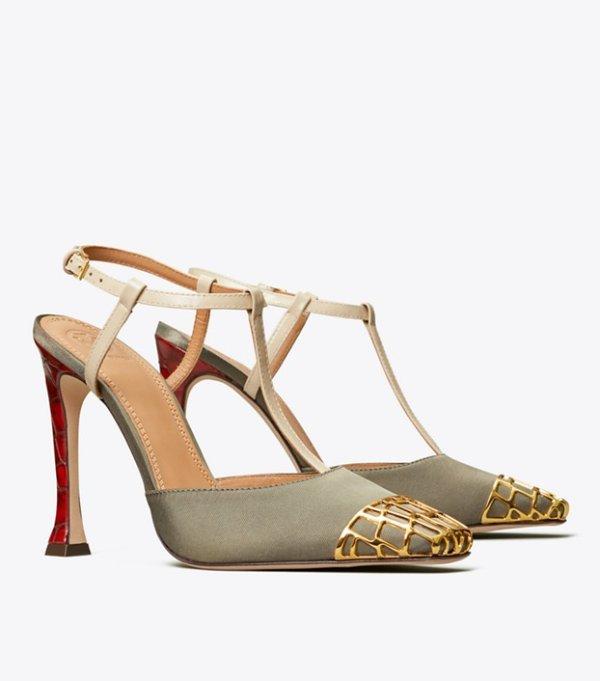 金属装饰高跟鞋 多色