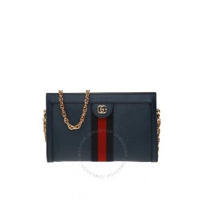 """GucciW/CODE """"DMOONGC949""""Ophidia Small Shoulder Bag in Blue"""