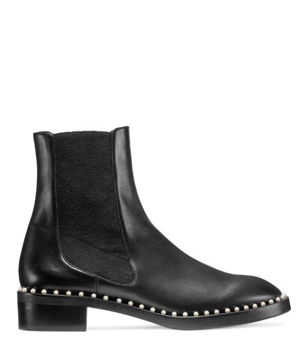 THE CLINE 珍珠短靴