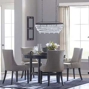 Allen + RothEberline Crystal Tiered Chandelier