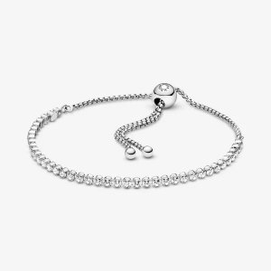 Pandora满£99免费赠!白水晶手链